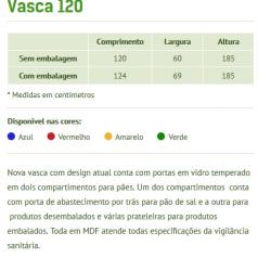 VITRINE VASCA PARA PAES 1,20 MDF